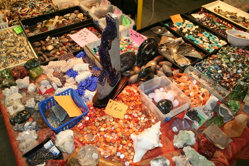 More beads at the Huntsville Gem, Jewelry, and Mineral Show